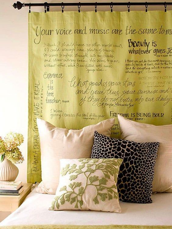 moderne schlafzimmer deko mit Gardinen und farbgestaltung schlafzimmer grün