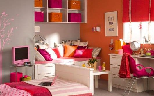Coole Kinderzimmer Deko deckengestaltung irgendwann zimmer einrichten kinderzimmer deko jugendzimmer gestalten einrichtung kinderspielzimmer keller ideen jugendlich keller Coole Deko Ideen Schlafzimmer Und Kinderzimmer Mdchen In Orange Und Pink