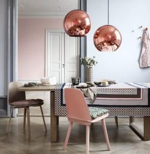 coole farbgestaltung in grau und rosa für optische raumvergrößerung ...
