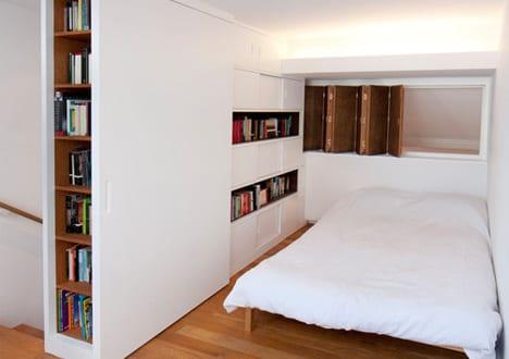 Ein kleines loft schlafzimmer kreative einrichtungsidee f r mezzanine freshouse - Zimmer abtrennen ...