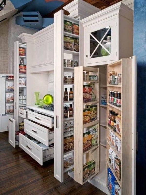 33 platzsparende Ideen für kleine Küchen | Inneneinrichtung ...