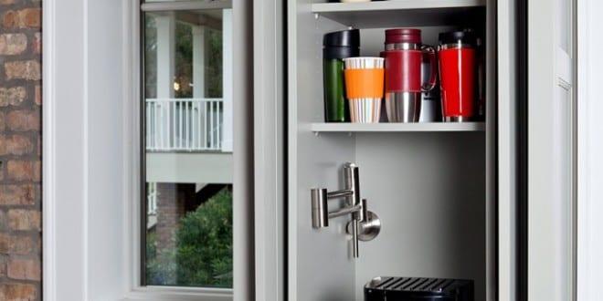 Coole idee zum platzsparen und kaffeemaschine verstecken for Kuchenschranke deutschland