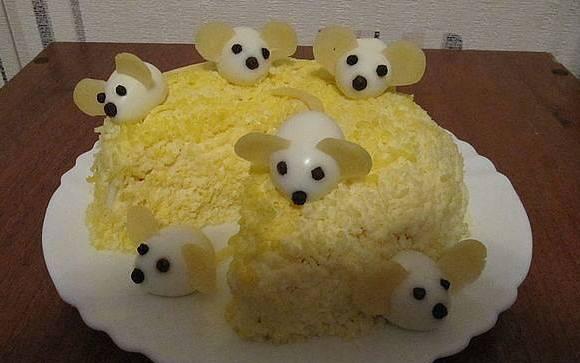 kreative idee für kinderpartys mit ei-mäusen als idee für DIY Essen-dekoration
