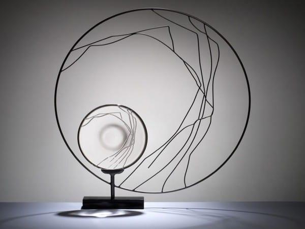 coole skulpturen aus glas für minimalistische zimmerdekoration mit glas