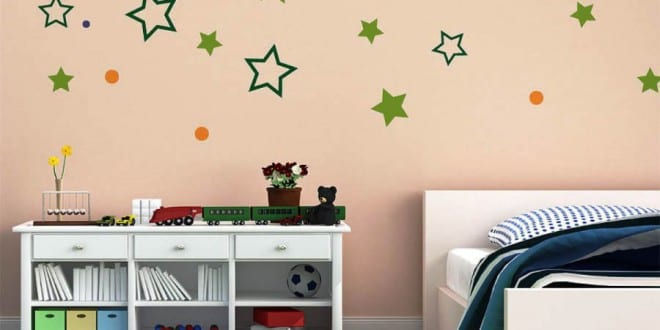 Dekor sterne kinderzimmer for Coole wandtattoos