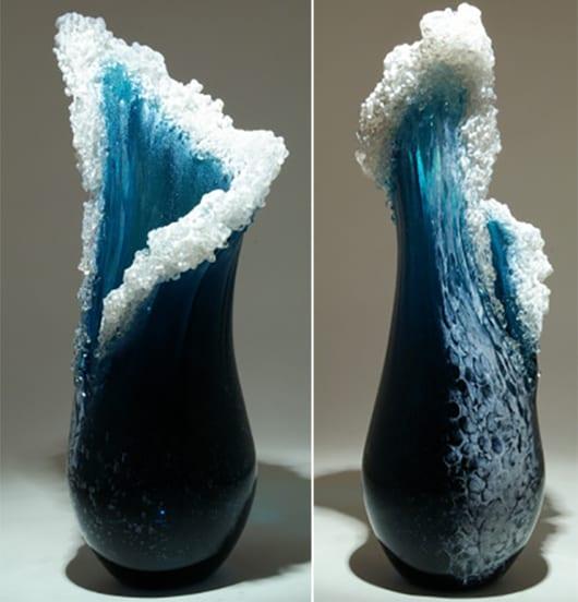 ozean-welle-vasen aus glas