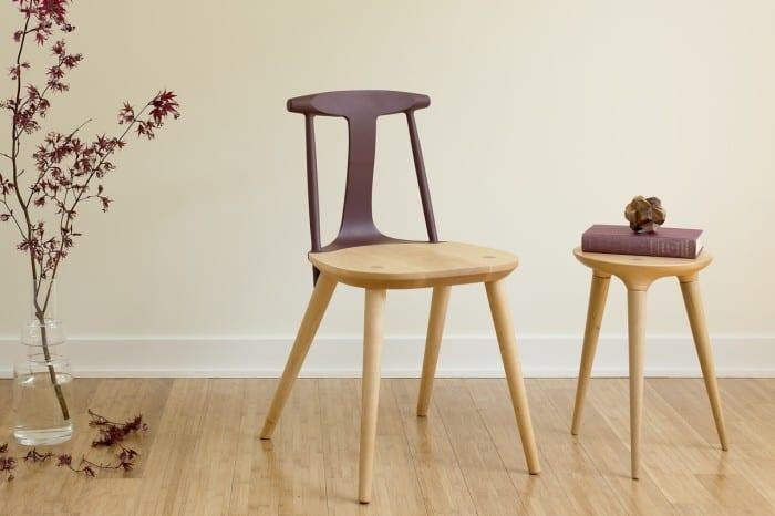 moderne esszimmersthle und hocker aus holz_der designer stuhl corliss mit rckenlehne lila - Designer Stuhl Esszimmer