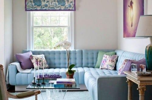 Kleines Wohnzimmer Farbgestaltung Fr Optische Vergrsserung In Hellblau Und Weiss