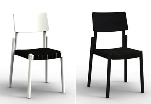 modernes Stuhl-Design in weiß und schwarz für minimalistische esszimmer gestaltung