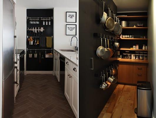 küche streichen ideen mit wandfarbe schwarz als farbakzent kleiner küchen