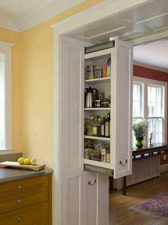 platzsparende ideen für die küche mit eingebauten schubladen