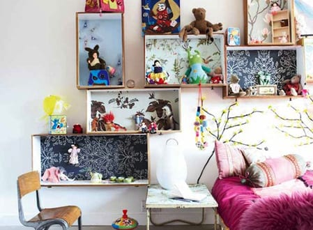 kreative kinderzimmer gestaltung und deko idee schlafzimmer mit diy wanddeko freshouse. Black Bedroom Furniture Sets. Home Design Ideas