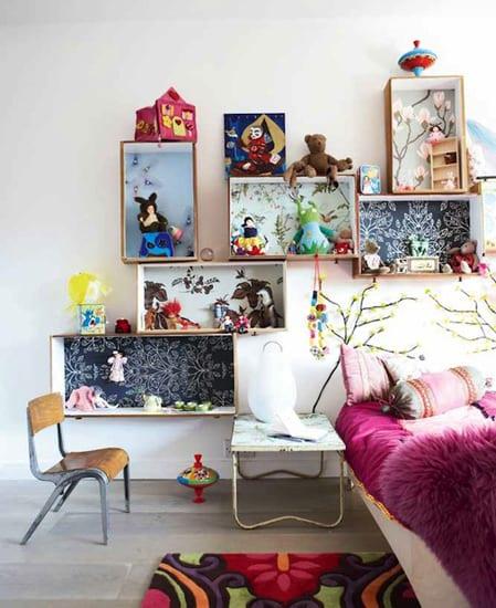 schlafzimmer wanddeko selber basteln als idee für kreative kinderzimmergestaltung