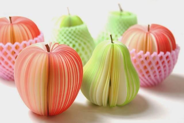 interessante und kreative Tischdekoration mit Äpfeln und Birnen