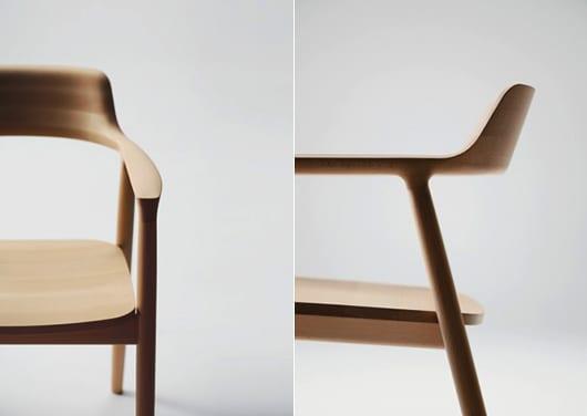 Armsessel aus holz als einrichtungsidee fürs esszimmer mit Holzstühlen