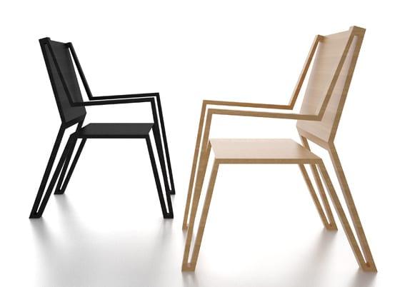 moderne Holzstühle in holzobptik und in schwarz für moderne einrichtung esszimmer