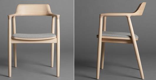 hiroshima Holzstühle mit polstersitz und gerundeter Rückenlehne
