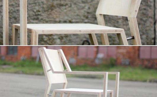 moderne holz esszimmerst hle mit r ckenlehne freshouse. Black Bedroom Furniture Sets. Home Design Ideas