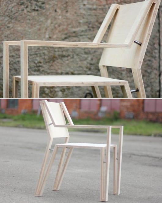 einrichtungsidee wohn-esszimmer mit modernen Stuhlen OUTLINE