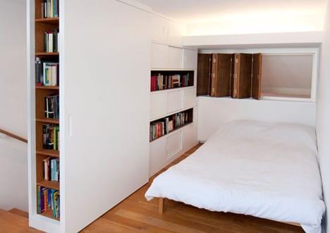 moderne einrichtungsidee f r kleine schlafzimmer und schlafbereiche im mezzanin freshouse. Black Bedroom Furniture Sets. Home Design Ideas
