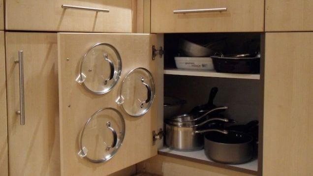 platzsparende anordnung für kleine küchen