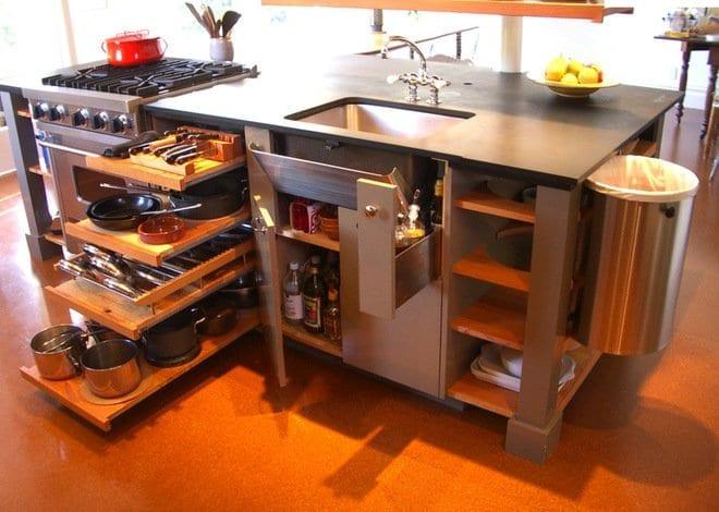 kreative einrichtung kleiner küchen mit kochinsel