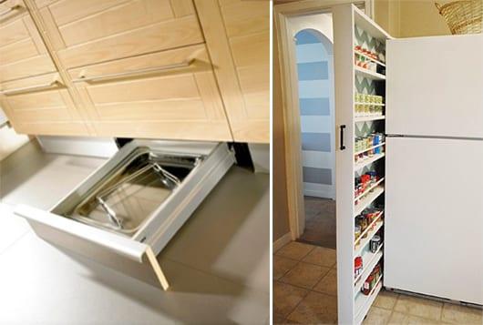 kleine küche schlau organisieren mit schubladen