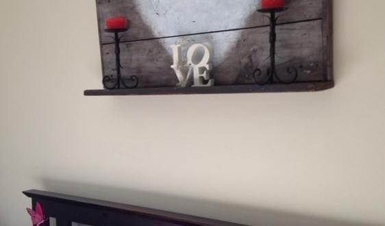 DIY schlafzimmer Deko ais paletten selbs basteln - fresHouse