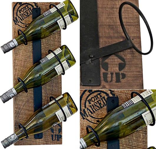 industrial style loft einrichtung mit Flaschenhalter aus paletten