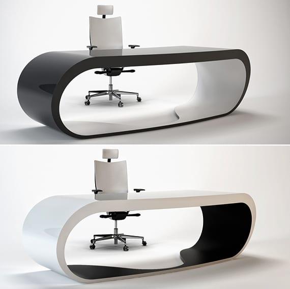 designer schreibtische in doppelfarbe als moderne büro schreibtische und sekretär möbel