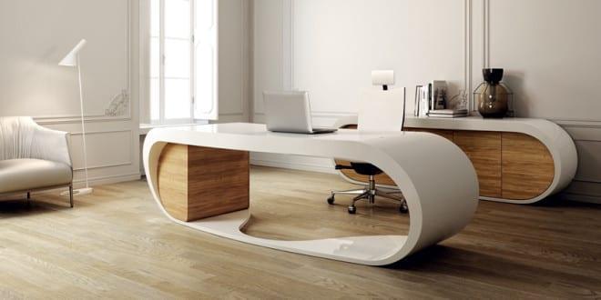 b ror ume einrichtung mit designer schreibtisch wei und b roschrank wei mit holzt ren freshouse. Black Bedroom Furniture Sets. Home Design Ideas