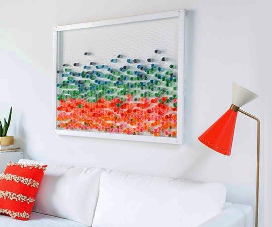 dekoideen wohnzimmer mit DIY Bilderrahmen wanddeko als moderne wandgestaltung