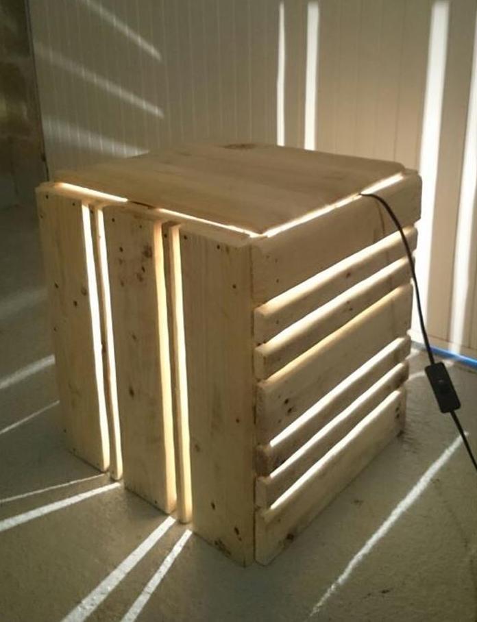DIY Tischlampe selber bauen_was kann man alles aus paletten bauen