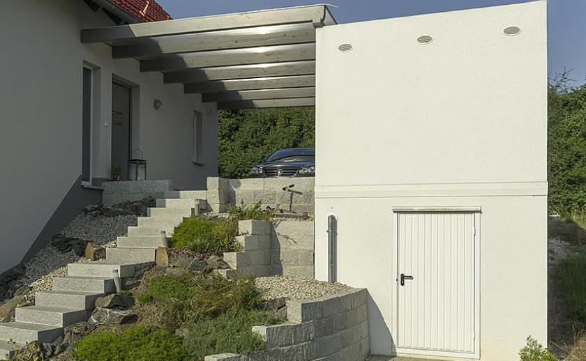 platzsparende fertiggaragen beton