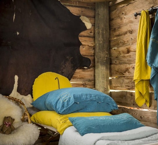 kinderbettwäsche gelb und blau aus leinen für schöne schlafzimmer farbe