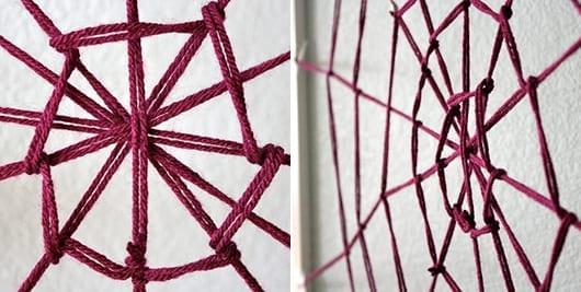 fantastische ideen halloween mit DIY spinnengewebe als DIY Wandgestaltung