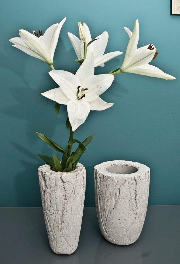 Designer-Vase aus Beton selber basteln