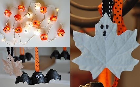 idee für halloween deko selber machen als Bastelidee für kinder und für DIY Laternen