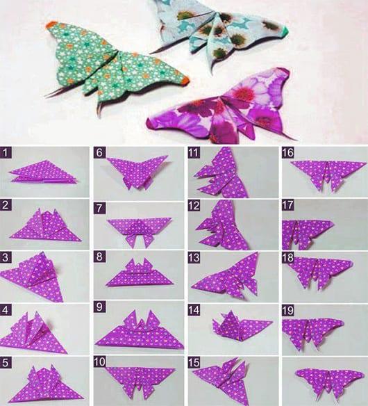 papierfaltkunst als dekoidee mit origami schmetterling