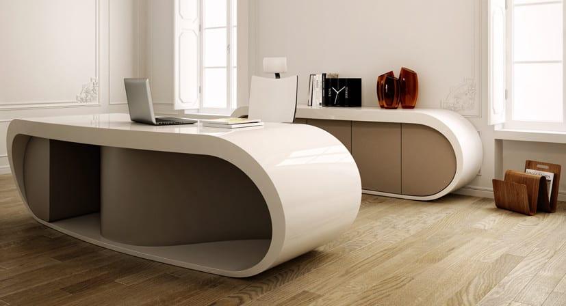 bürotisch in weiß und beige mit büroschrank für moderne einrichtung mit büromöbel set