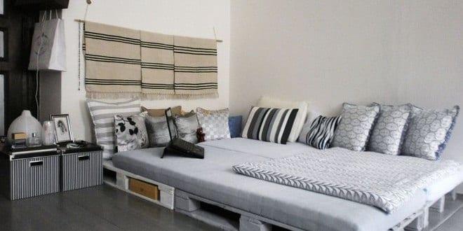 diy bett als wohnidee und gestaltung schlafzimmer rustikal mit ...