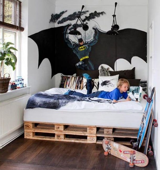 diy bett f rs kinderzimmer aus paletten freshouse. Black Bedroom Furniture Sets. Home Design Ideas