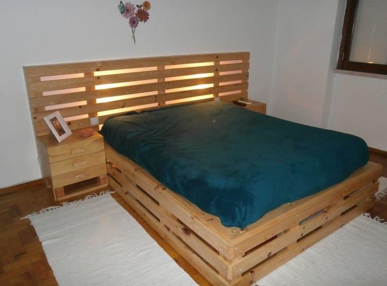 wohnidee schlafzimmer für DIY Schlafzimmer-Möbel aus holz