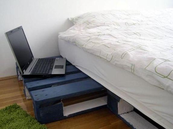 coole idee für schlafzimmer mit bett und nachttische aus europaletten