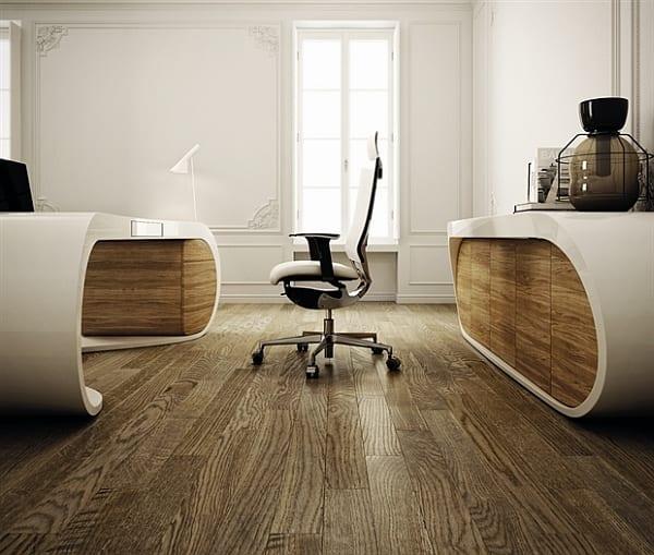 Designer Schreibrisch vom Büromöbel Hersteller Babini ...