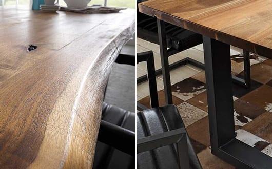 esszimmer gestalten mit esstisch massivholz mit schwarzen. Black Bedroom Furniture Sets. Home Design Ideas