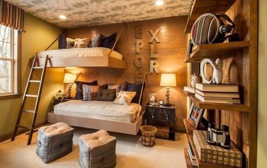 etagenbett als h ngebett f r kleines kinderzimmer einrichten freshouse. Black Bedroom Furniture Sets. Home Design Ideas