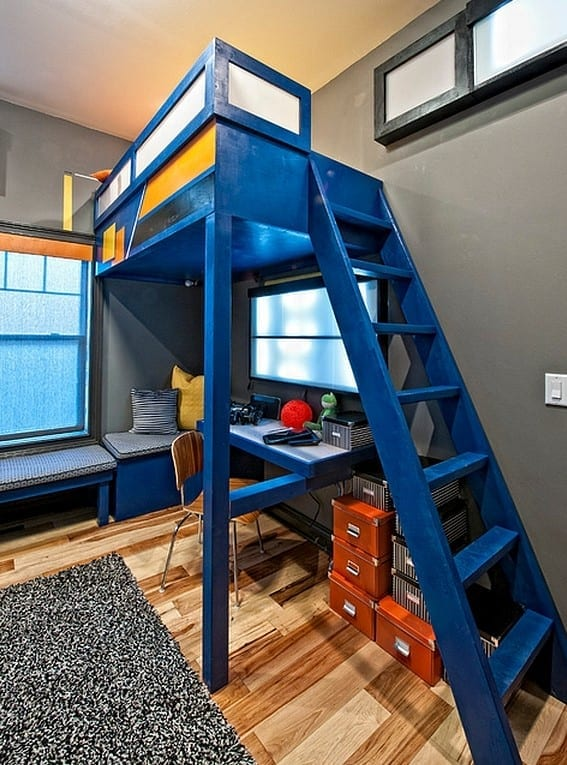 Farbgestaltung Kleines Kinderzimmer : etagenbett in blau für coole kinderzimmergestaltungMonticello Homes