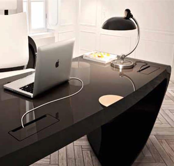 italienischer büromöbel hesteller und designer schreibtisch in schwarz