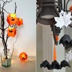 bastelidee für DIY-Halloween deko und coole Halloween partydekoration